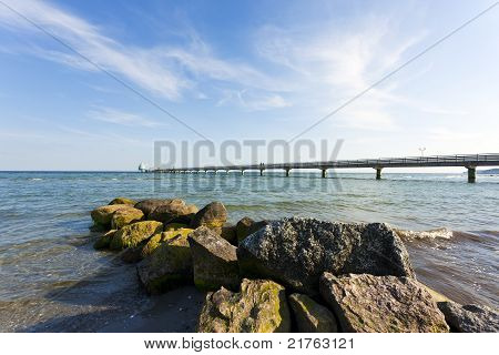 Pier At Grömitz On The Baltic Sea Shore