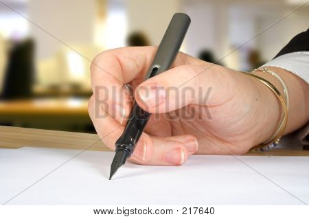 Letter Signature With Office Background