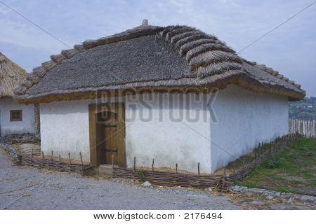 alten traditionellen ukrainischen Haus