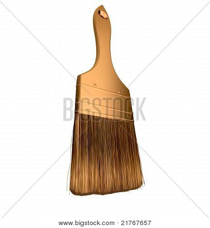 Housework: Golden Paintbrush Isolated
