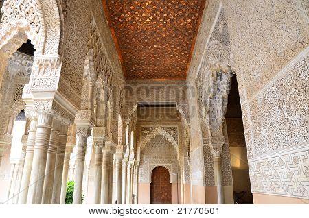 Corredor en el patio de los leones, la Alhambra