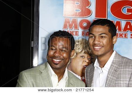 LOS ANGELES - FEB 10: Sugar Shane Mosley and his son Shane at the Los Angeles premiere of 'Big Mommas: Like Father, Like Son' at the Cinerama Dome in Los Angeles, California on February 10, 2011