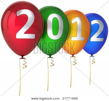 New 2012 Year balloons decoration multicolor