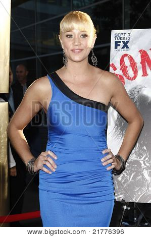 LOS ANGELES - AUG 30: Kristen Renton at the Season Three premiere screening of 'Sons of Anarchy' at the Cinerama Dome in Los Angeles, California on August 30, 2010