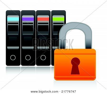 server security illustration concept design over white