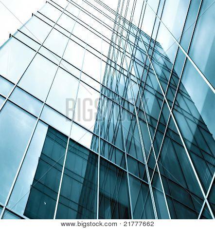 real estate of glass skyscraper perspective view