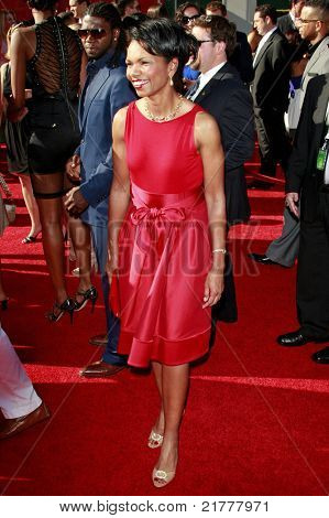 LOS ANGELES - JUL 15: Condoleezza Rice at the 2009 ESPY Awards held at the Nokia Theater in Los Angeles, California on July 15, 2009