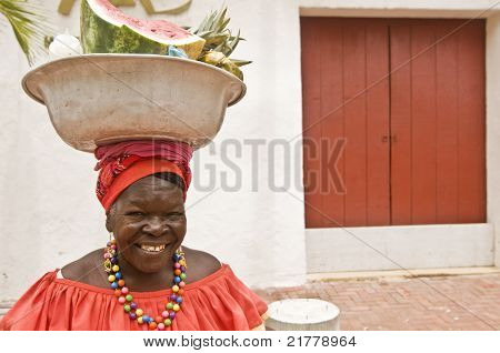 Traditional Cartagena Palenquera
