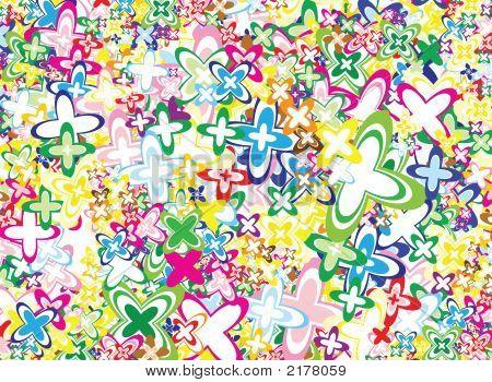 Vivid Flowers Background