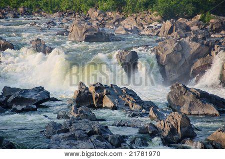 Great Falls on Potomac River in Virginia USA
