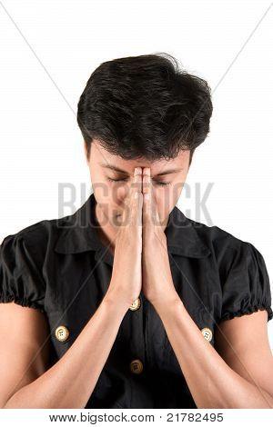 Indian Man praying