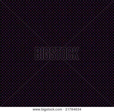 Magenta polka dots on black