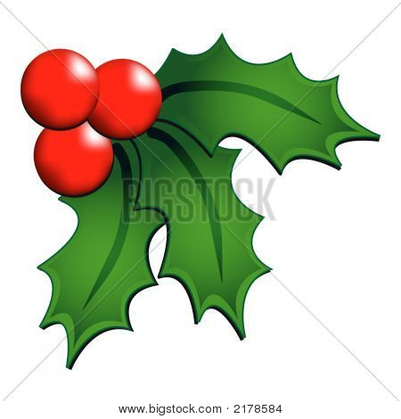 Christmas Holly Ornament