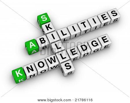 Habilidades, conhecimentos, habilidades