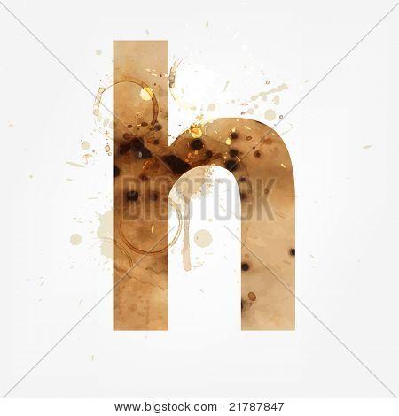 Vector Grunge Alphabet, H