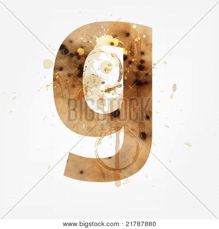 Vector Grunge Alphabet, G
