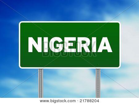 Nigeria Highway Sign