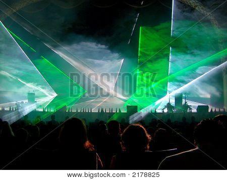 Green Lazer Light Show