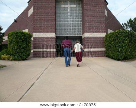 Couple Entering Church