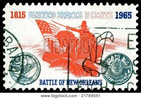 Vintage  Postage Stamp. Battle Of New Orleans.