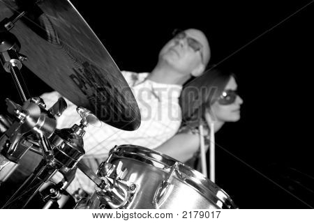Posing On Drums