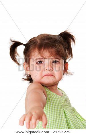 Sad Face Of Little Girl