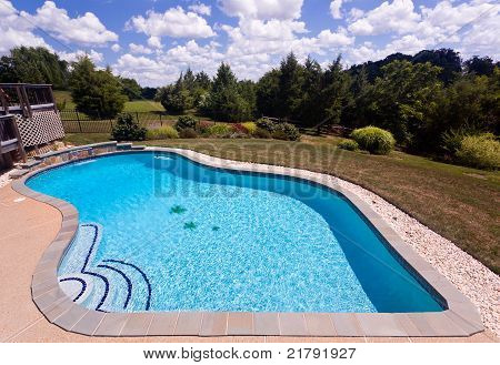 Backyard Swimming Pool And Patio