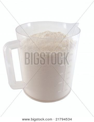Flour In The Measuring Cup