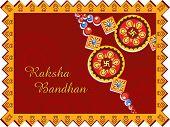 image of rakshabandhan  - greeting card for rakshabandhan celebration - JPG