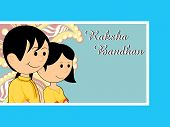 picture of rakshabandhan  - vector illustration for rakshabandhan celebration - JPG