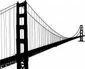 pic of bridge  - Silhouette of Golden Gate bridge in San Francisco - JPG