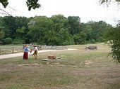 picture of 1700s  - Bringing in the hay work on the farm in the 18th century