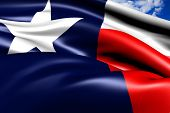 foto of texas flag  - Flag of Texas against cloudy sky - JPG
