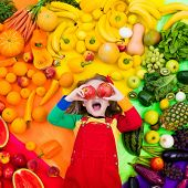 Healthy Fruit And Vegetable Nutrition For Kids poster