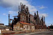 image of blast-furnace  - Abandoned Blast furnace at Bethlehem Steel Company - JPG