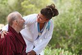 pic of nursing  - nurse showing care to patient - JPG