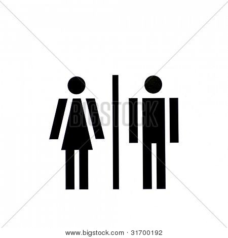 gender/equal opportunities concept - man and woman side by side