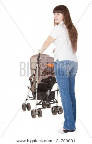 girl with a perambulator