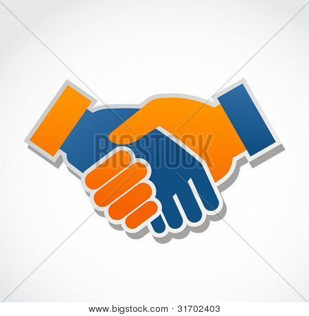 Handshake abstract Vector illustration