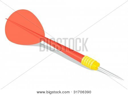 dart on white background