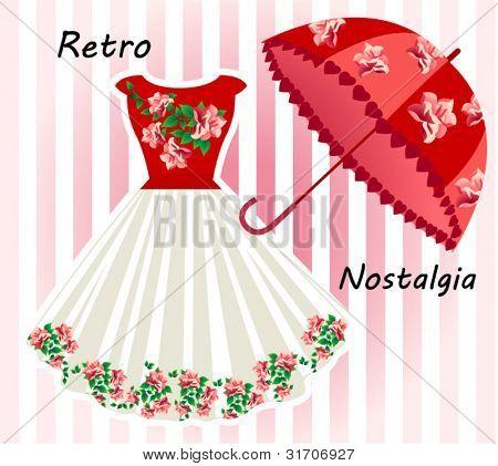 Nostalgic retro dress