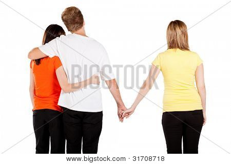 love triangle between 3 young people