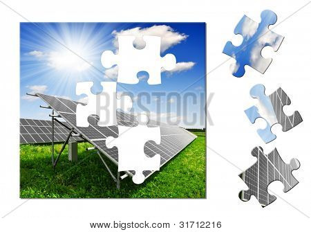 puzzle of the solar panel