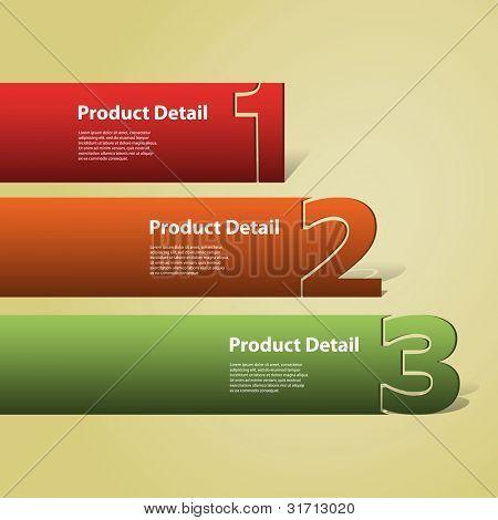 Kopf- oder Banner-Design - Zahlen