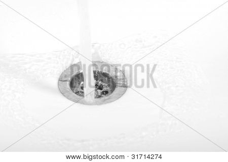 Water fallen in sink