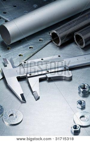 Metal work tools, steel parts.