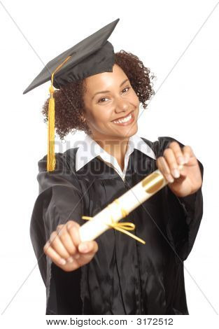 Showing Off Her Diploma