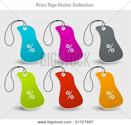 Price tags vector design set