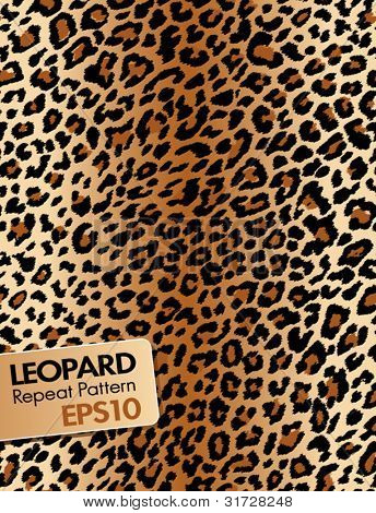 Leopard skin, Repeat pattern