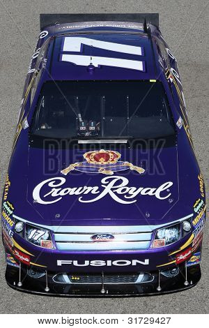 FONTANA, CA. - OCT 9: Sprint Cup Series driver Matt Kenseth in the Crown Royal #17 car during the Pepsi Max 400 practice on Oct 9 2010 at the Auto Club Speedway.